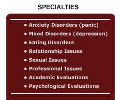 Therapy specialties
